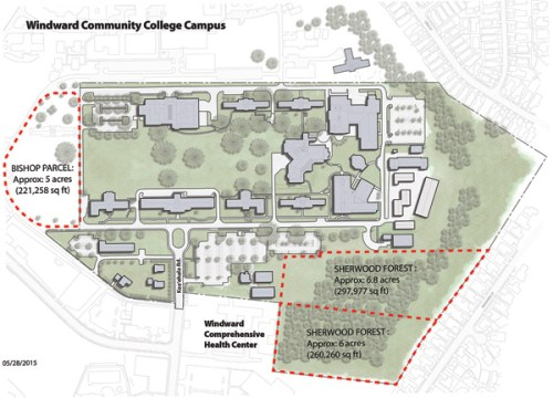 The map shows the parcels to be swapped in WCC's proposal to the Hawai'i State Hospital – WCC Media Services