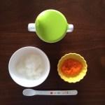 離乳食初期 2週目 にんじん・かぼちゃ食べました