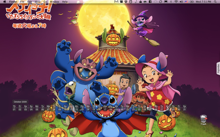 Just in time for Halloween, a Stitch! wallpaper