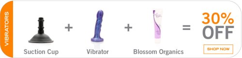 Vibrator + Suction Cup + Lube Black Friday Sale