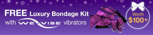 Free Luxury Bondage Kit with We-Vibe Vibrators