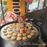 台南の歩き方 1個20円のミニ今川焼き?街中の屋台で車輪餅を買ってみた。