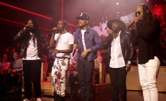 chance the rapper dram raury ty dolla sign blessings tonight show