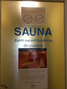 sauna bad sign