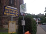 haltstelle train stop sign