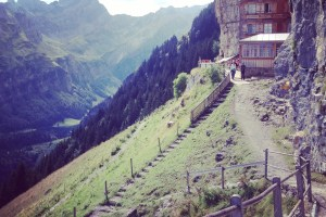 Aescher: a cliffside hotel in the Swiss Alps