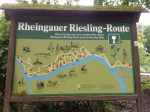 rheingauer riesling route hiking sign