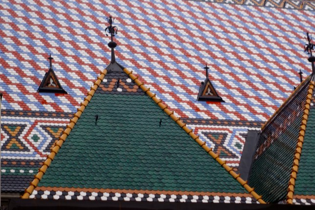 colorful St. Mark's Church roof