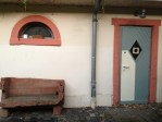 Tiny bench, tiny window, tiny door... -Dieburg