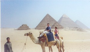 egypt pyramids camels kari