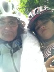 mother daughter bike fall helmets