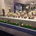 Luxembourg city easter chocolate bunnies