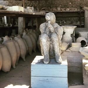 italy, mt. vesuvius, petrified man
