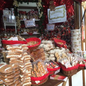 You can buy stacks and stacks of gingerbread throughout the market.
