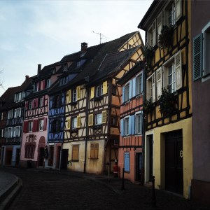 Colmar is colorful even without decorations