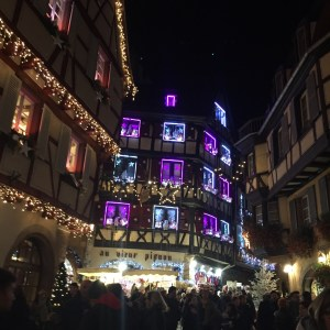 During the Christmas Markets, the town is decked out in lights