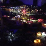 miniature amusement park carnival, model trains