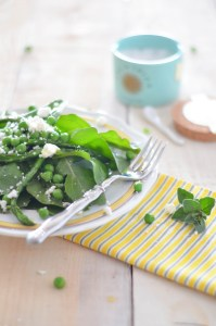 Spring Arugula, Asparagus and Pea Salad with Feta and Fleur de Sel 4
