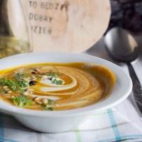 Zupa z batatów, marchewki i dyni / Sweet potato, carrot and pumkin soup
