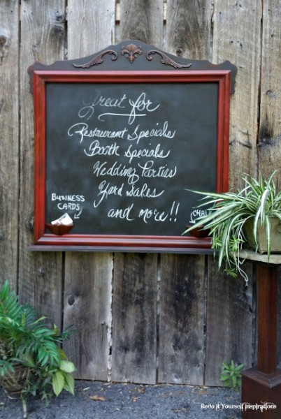 Chalkboard From Mirror Redo It Yourself Inspirations 6-22