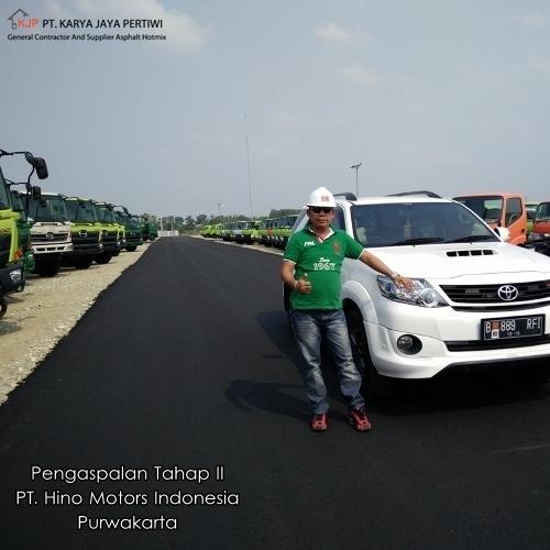 Pengaspalan Tahap II PT. Hino Motors Indonesia Purwakarta, Jasa Pengaspalan, Kontraktor Pengaspalan Jalan, Konstruksi Jalan, Aspal Hotmix, Betonisasi