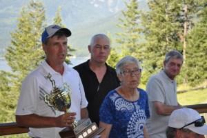 Reg Clarkson, Rob Zilkie, Ena Zilkie, and Albert Volpatti (tournament organizer)