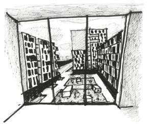 view from window habitat L7