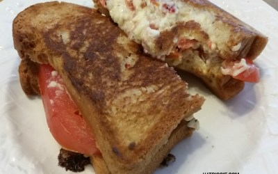 Gluten Free Grilled Pimento Cheese & Tomato Sandwich
