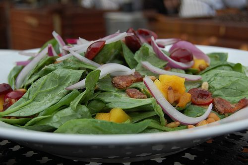 Jerusalem: Baby Spinach Salad with Dates and Almonds