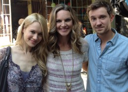 On set of Being Human 3 - with Kristen Hager and Sam Huntington