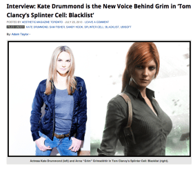 Kate Drummond interview Grim