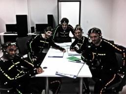 The cast of Splinter Cell Blacklist - L-R Dwain Murphy, Elias Toufexis, David Reale, Kate Drummond, Eric Johnson