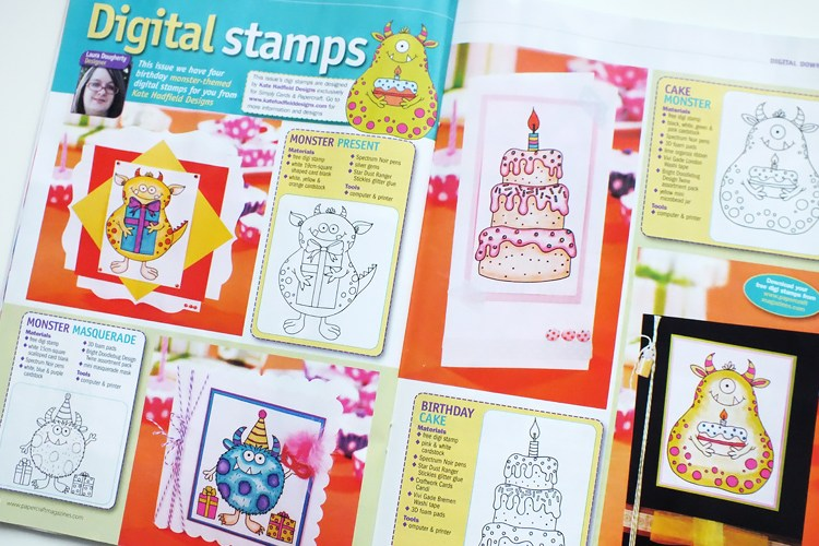 Kate Hadfield Designs: digital stamps magazine spread