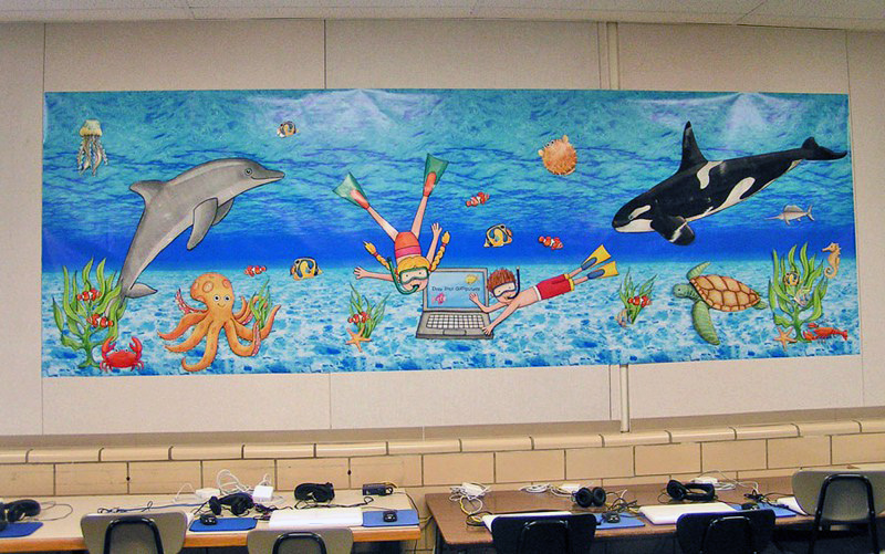 Classroom Ideas For Under The Sea ~ Under the sea classroom display