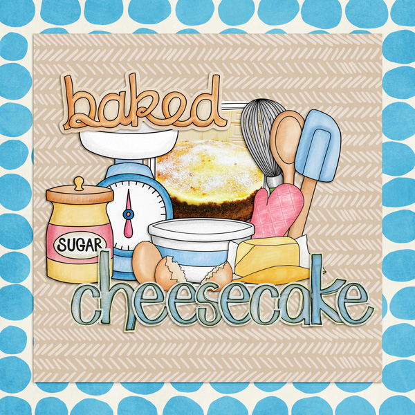 "Kate Hadfield Designs creative team ""Baked With Love"" layout by Kirstie"