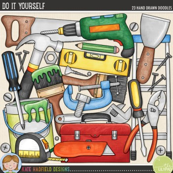 Do It Yourself doodles from Kate Hadfield Designs