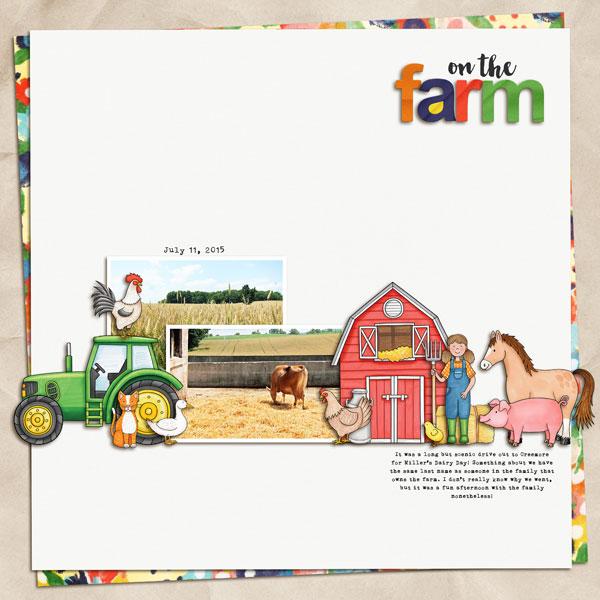 "Kate Hadfield Designs Creative Team ""On the Farm"" | Layout by Melanie"