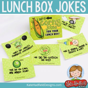 Love Your Veggies: free lunch box notes and journal cards