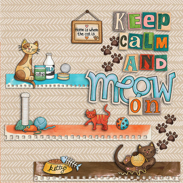 """Kate Hadfield Designs Creative Team inspiration: """"Here Kitty Kitty"""" 