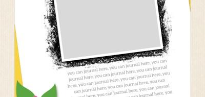 """Scrap Like Kristina"" FREE digital scrapbooking template from Kate Hadfield Designs!"