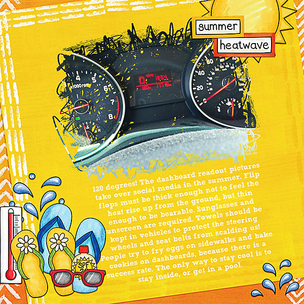 """""""Dashboard Readout"""" digital scrapbook page by CT member Kristina"""