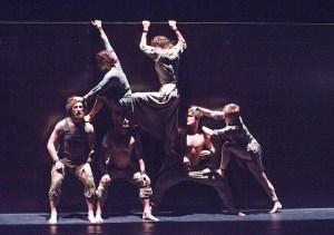 A scene from The Return by Circa @ Barbican Theatre. Directed by Yaron Lifschitz. (Opening 28-01-16) ©Tristram Kenton 01/16 (3 Raveley Street, LONDON NW5 2HX TEL 0207 267 5550 Mob 07973 617 355)email: tristram@tristramkenton.com
