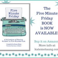five minute friday :: collect {+ book news and swag!}