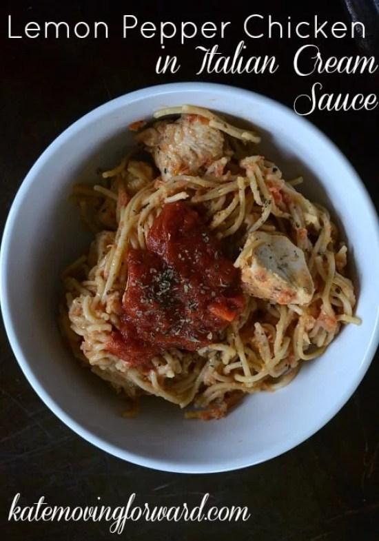 Healthy Recipes Lemon Pepper Chicken in Italian Cream Sauce