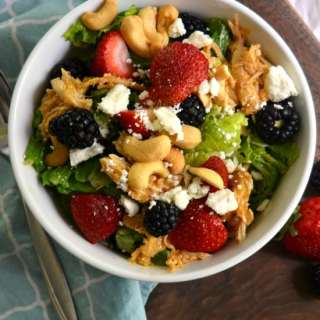 Berry Chicken Cashew Salad