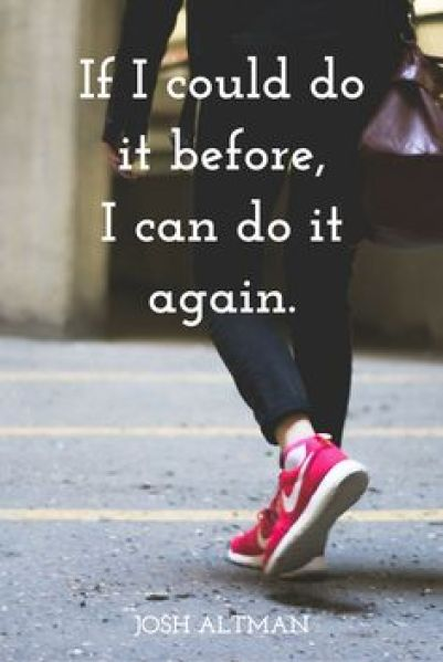 I can do it again