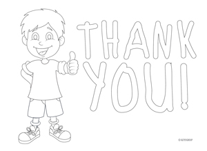 Free Download Kids Color In Thank You Notes