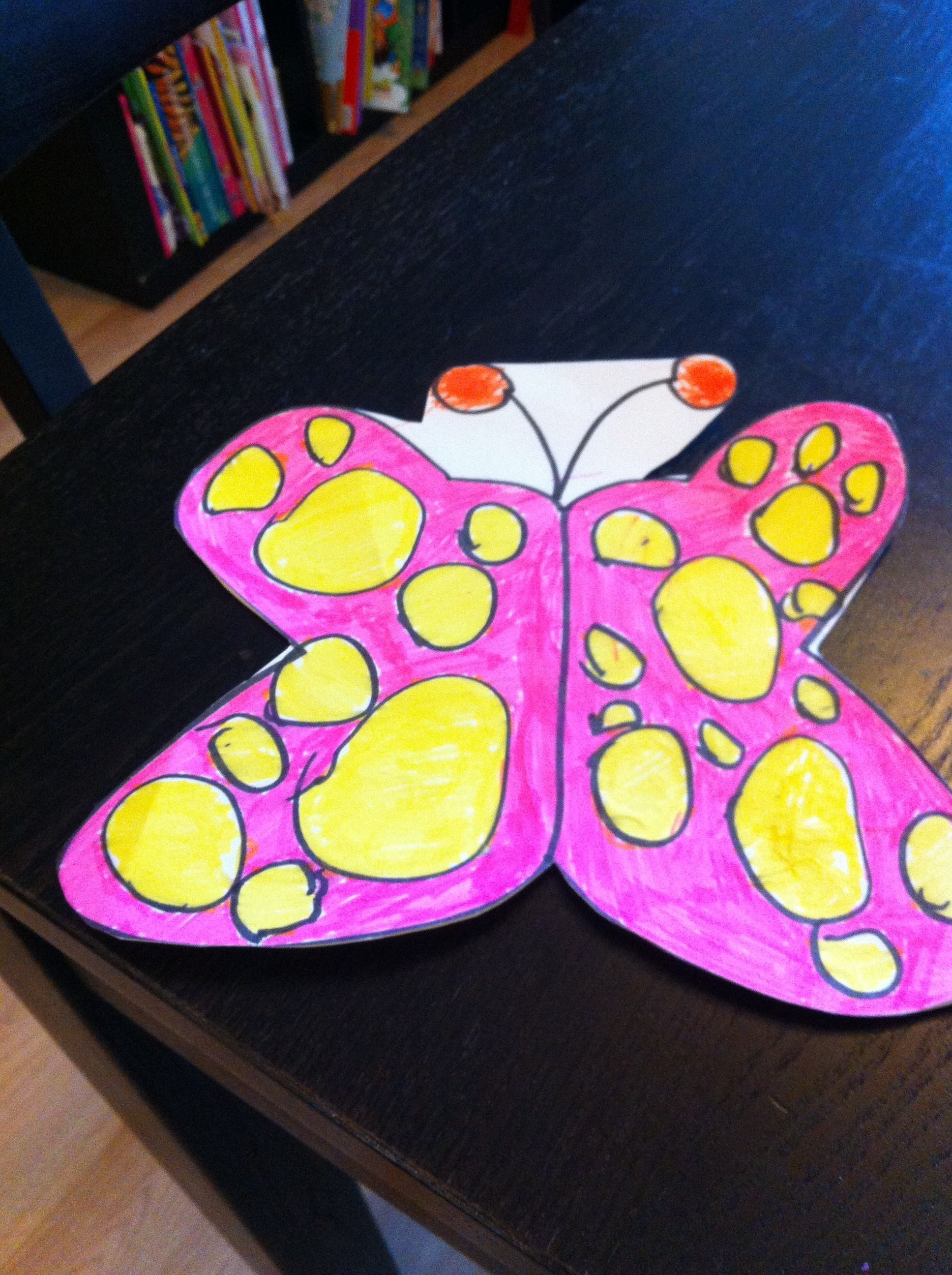 Pink and yellow butterfly