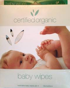 Certified Organic Washable Baby Wipes