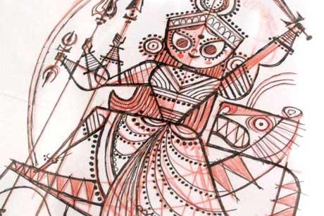 Durga-Sketch